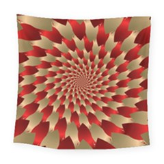 Fractal Red Petal Spiral Square Tapestry (large)