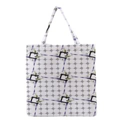 Fractal Design Pattern Grocery Tote Bag