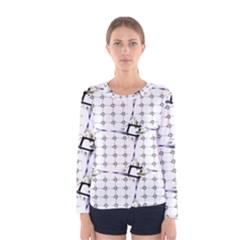 Fractal Design Pattern Women s Long Sleeve Tee