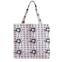 Fractal Design Pattern Zipper Grocery Tote Bag