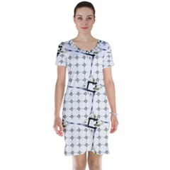 Fractal Design Pattern Short Sleeve Nightdress