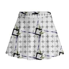 Fractal Design Pattern Mini Flare Skirt