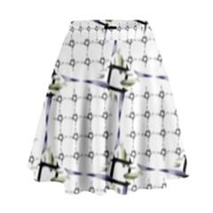 Fractal Design Pattern High Waist Skirt