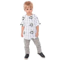 Fractal Design Pattern Kids  Raglan Tee