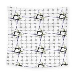 Fractal Design Pattern Square Tapestry (large)