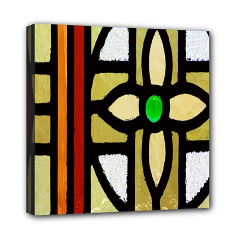 A Detail Of A Stained Glass Window Mini Canvas 8  X 8