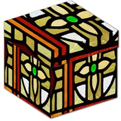 A Detail Of A Stained Glass Window Storage Stool 12