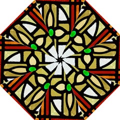 A Detail Of A Stained Glass Window Golf Umbrellas