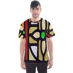 A Detail Of A Stained Glass Window Men s Sport Mesh Tee