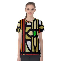 A Detail Of A Stained Glass Window Women s Cotton Tee