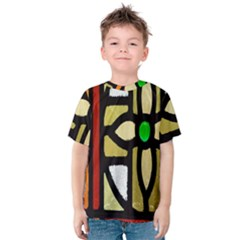 A Detail Of A Stained Glass Window Kids  Cotton Tee