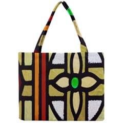 A Detail Of A Stained Glass Window Mini Tote Bag