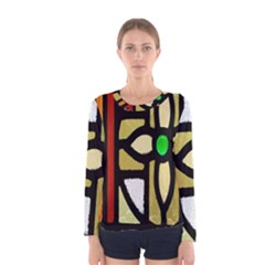 A Detail Of A Stained Glass Window Women s Long Sleeve Tee