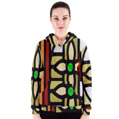A Detail Of A Stained Glass Window Women s Zipper Hoodie