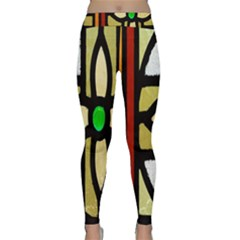A Detail Of A Stained Glass Window Classic Yoga Leggings