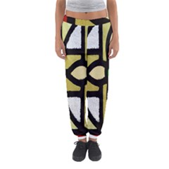 A Detail Of A Stained Glass Window Women s Jogger Sweatpants