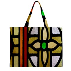A Detail Of A Stained Glass Window Zipper Mini Tote Bag