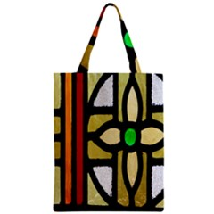 A Detail Of A Stained Glass Window Zipper Classic Tote Bag