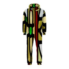 A Detail Of A Stained Glass Window Hooded Jumpsuit (Kids)