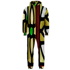 A Detail Of A Stained Glass Window Hooded Jumpsuit (Men)