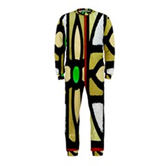 A Detail Of A Stained Glass Window Onepiece Jumpsuit (kids)