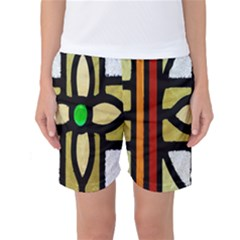 A Detail Of A Stained Glass Window Women s Basketball Shorts