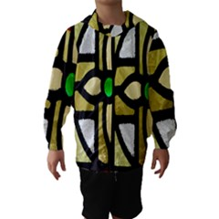 A Detail Of A Stained Glass Window Hooded Wind Breaker (Kids)