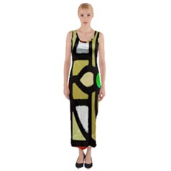 A Detail Of A Stained Glass Window Fitted Maxi Dress