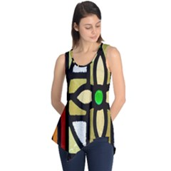 A Detail Of A Stained Glass Window Sleeveless Tunic
