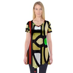 A Detail Of A Stained Glass Window Short Sleeve Tunic