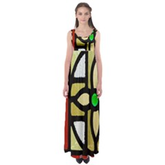 A Detail Of A Stained Glass Window Empire Waist Maxi Dress