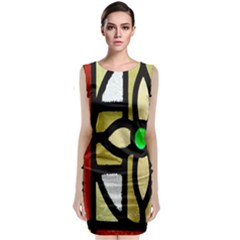 A Detail Of A Stained Glass Window Classic Sleeveless Midi Dress