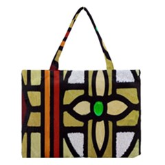 A Detail Of A Stained Glass Window Medium Tote Bag