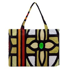 A Detail Of A Stained Glass Window Medium Zipper Tote Bag