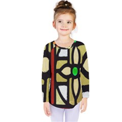 A Detail Of A Stained Glass Window Kids  Long Sleeve Tee