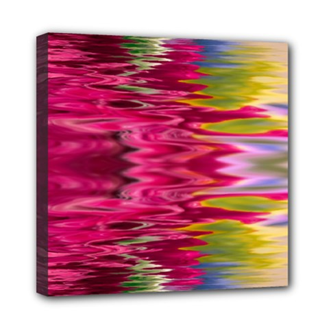 Abstract Pink Colorful Water Background Mini Canvas 8  X 8