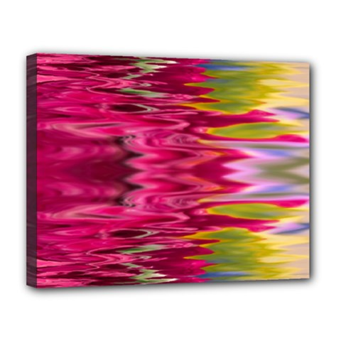 Abstract Pink Colorful Water Background Canvas 14  x 11