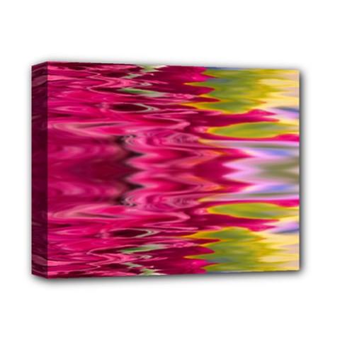 Abstract Pink Colorful Water Background Deluxe Canvas 14  X 11