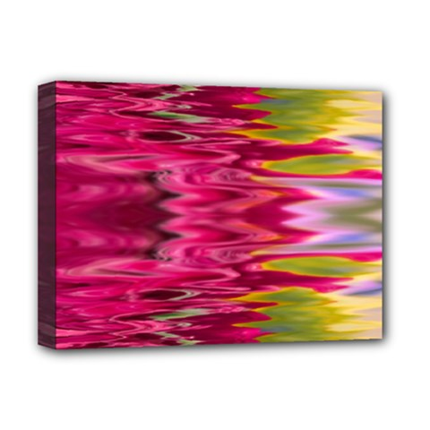 Abstract Pink Colorful Water Background Deluxe Canvas 16  X 12