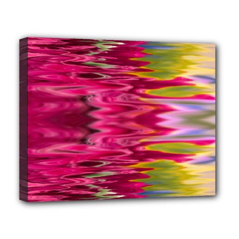 Abstract Pink Colorful Water Background Deluxe Canvas 20  X 16