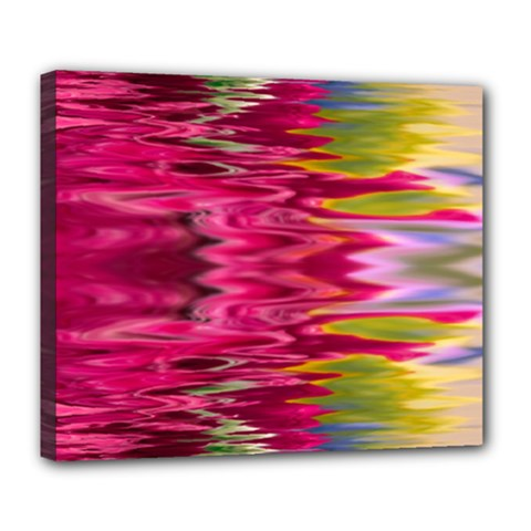 Abstract Pink Colorful Water Background Deluxe Canvas 24  X 20