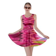 Abstract Pink Colorful Water Background Skater Dress