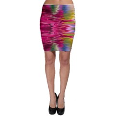 Abstract Pink Colorful Water Background Bodycon Skirt
