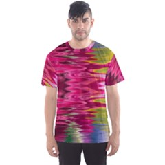 Abstract Pink Colorful Water Background Men s Sport Mesh Tee