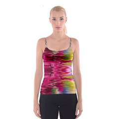 Abstract Pink Colorful Water Background Spaghetti Strap Top