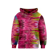 Abstract Pink Colorful Water Background Kids  Pullover Hoodie