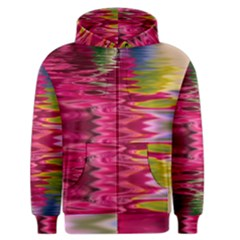 Abstract Pink Colorful Water Background Men s Zipper Hoodie