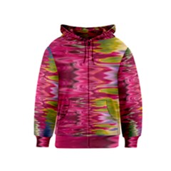 Abstract Pink Colorful Water Background Kids  Zipper Hoodie
