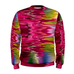 Abstract Pink Colorful Water Background Men s Sweatshirt