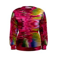 Abstract Pink Colorful Water Background Women s Sweatshirt